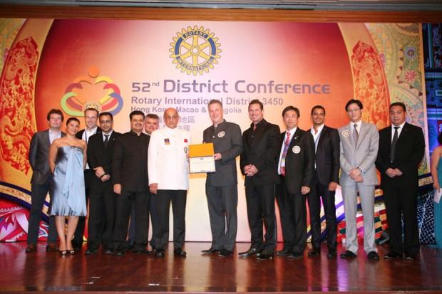 Charter handed over by RI President Kalayan Banerjee